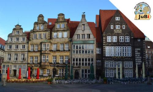 Bremer Marktplatz mit Häuserfassade