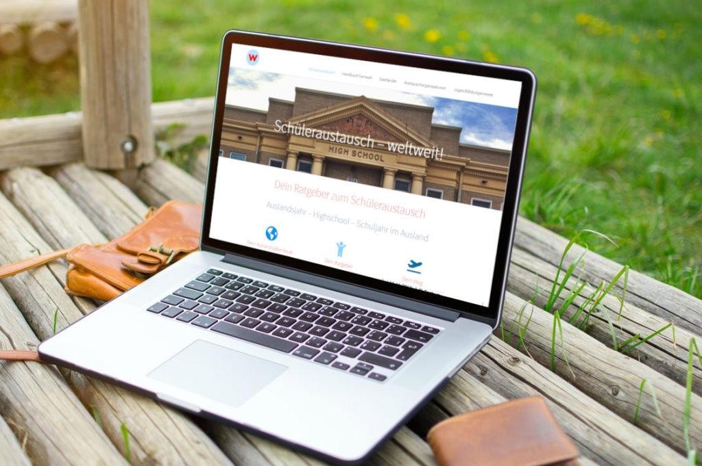 weltweiser · Schüleraustausch weltweit · Websites