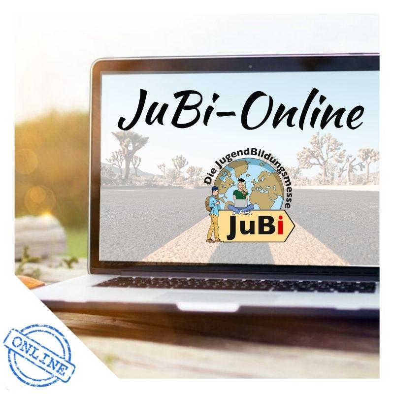 """Laptop mit """"Jubi-Online"""" auf dem Bildschirm"""