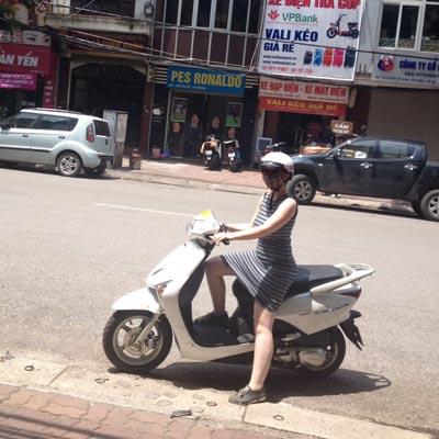 weltweiser · Mofafahren in Vietnam