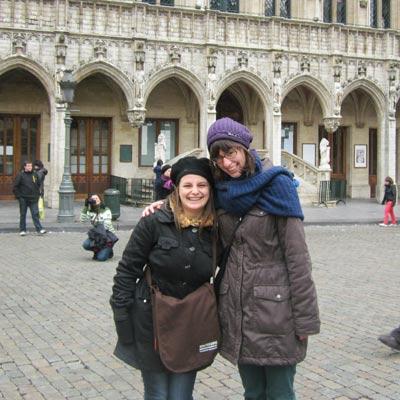weltweiser · Foto in der Brüsseler Altstadt