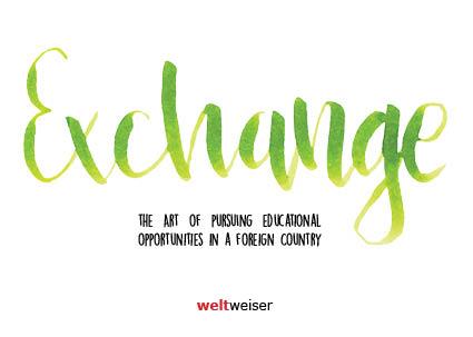 weltweiser · JugendBildungsmesse · Exchange · Postkarte