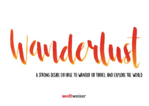 weltweiser · JugendBildungsmesse · Wanderlust · Postkarte