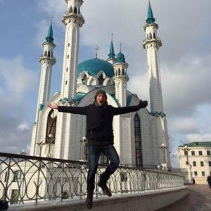 Freiwilliger in Russland am Kreml