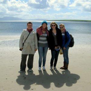 Gastfamilie am Strand