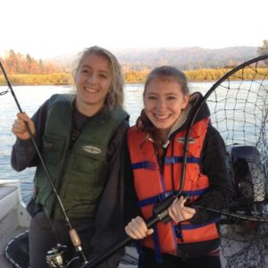 Jugendliche beim Fischen