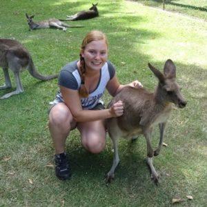 Jugendliche mit Kangaroos